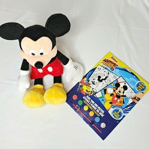 """Mickey Mouse Plush 16"""" & New Poster Kit 2 Posters"""